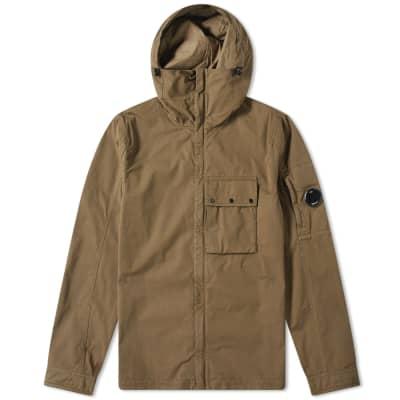 C.P. Company Hooded Gabardine Arm Lens Zip Shirt Jacket