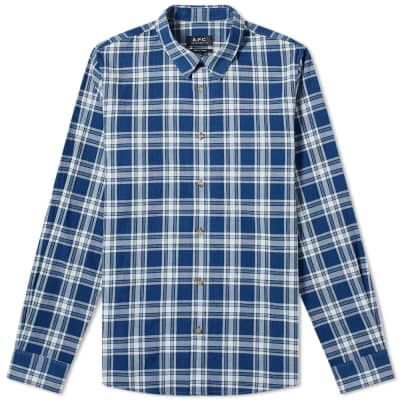 A.P.C. Washed Flannel Check Shirt