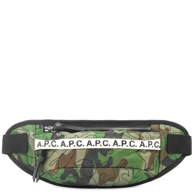 A.P.C. Camo Stitch Cross Body Bag