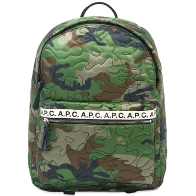 A.P.C. Camo Stitch Backpack