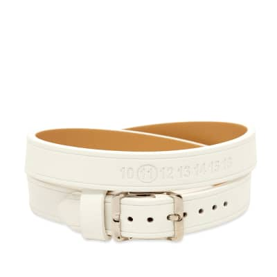 Maison Margiela 11 Logo Leather Wrap Bracelet