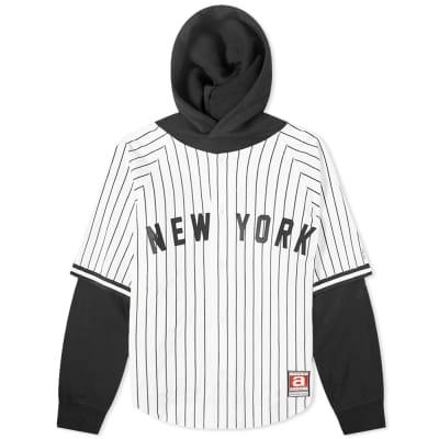 Alexander Wang Baseball Shirt Layered Hoody