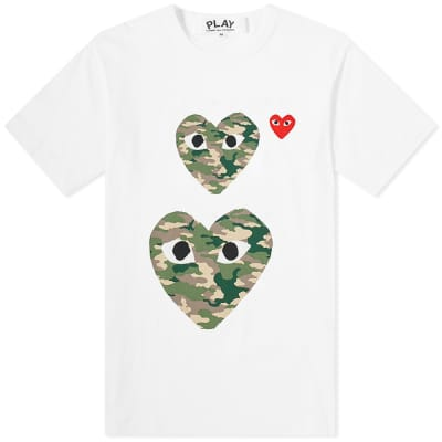 Comme des Garcons Play Twin Heart Tee
