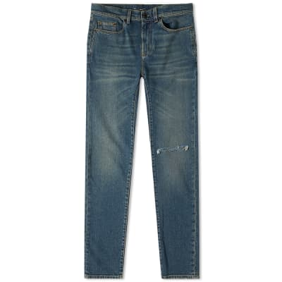 Saint Laurent Skinny Fit Low Waist Jean