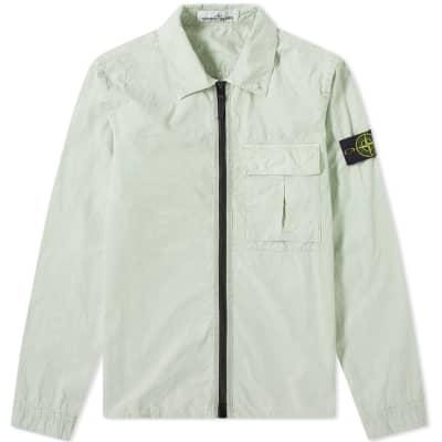 af4ebe7f Stone Island Garment Dyed Zip Overshirt