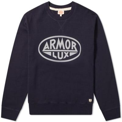 Armor-Lux 76661 Circle Logo Crew Sweat