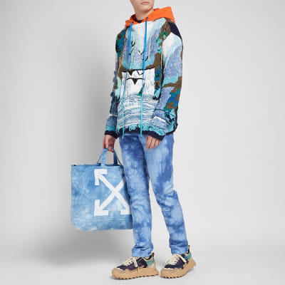 "END. x Off-White ""CHEMICAL WASH"" Canvas Tote Bag"