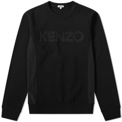 Kenzo Cotton Nylon Logo Sweat