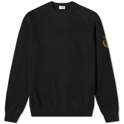 Saint Laurent Arm Crest Crew Knit