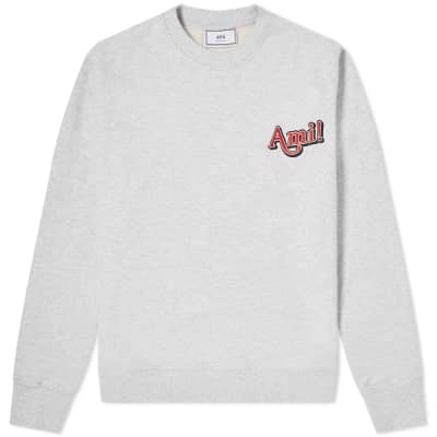 AMI Embroidered Text logo Sweat