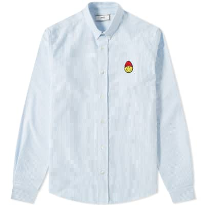 AMI Smiley Button Down Oxford Shirt