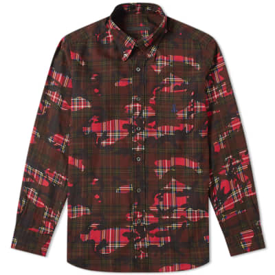 SOPHNET. Camouflage Print Shirt