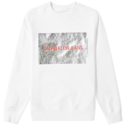 Calvin Klein Insitutional Silver Box Crew Knit