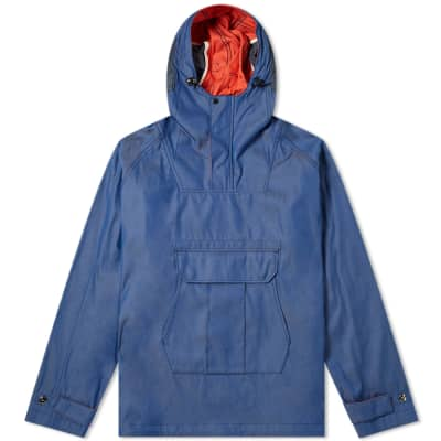Junya Watanabe MAN Chambray Camo Popover Hooded Jacket