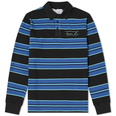 Martine Rose Long Sleeve Stripe Polo
