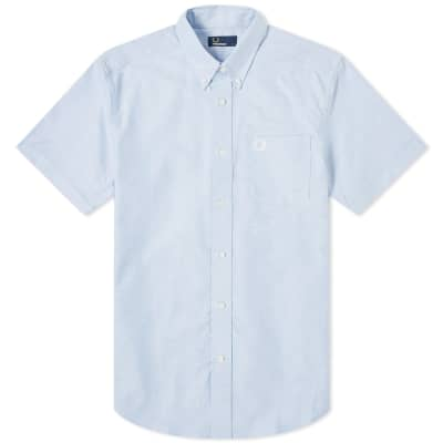 Fred Perry Authentic Short Sleeve Button Down Oxford Shirt