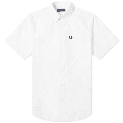 ea0eb5a50 Fred Perry Authentic Short Sleeve Button Down Oxford Shirt