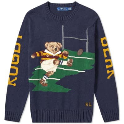 Polo Ralph Lauren Rugby Bear Intarsia Knit