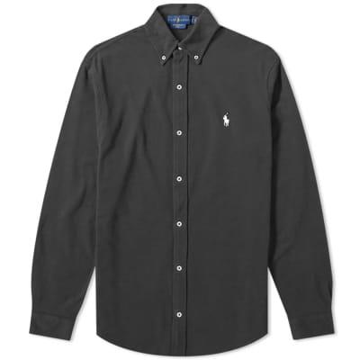 Polo Ralph Lauren Slim Fit Button Down Pique Shirt