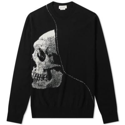 Alexander McQueen Skull Woven Crew Knit