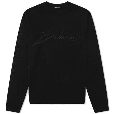 Balmain Signature Logo Knit