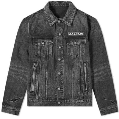 Balmain Signature Patch Denim Jacket