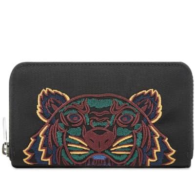 182d01ec984 Kenzo Tiger Embroidered Zip Wallet