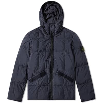 Stone Island Crinkle Reps Hooded Down Jacket