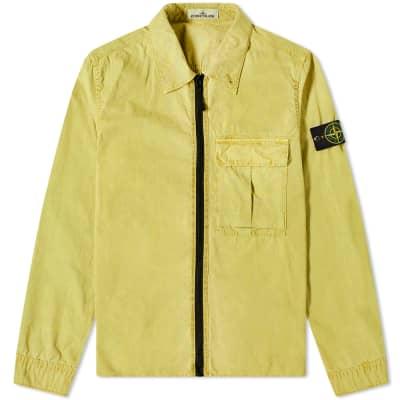 862e3d146a Stone Island Garment Dyed Zip Overshirt