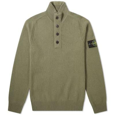 Stone Island Lambswool Button Half Zip Knit