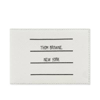 Thom Browne Printed Label Billfold Wallet
