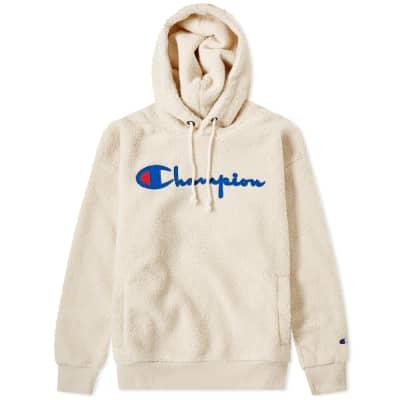 Champion Reverse Weave Women's Popover Script Logo Hooded Fleece