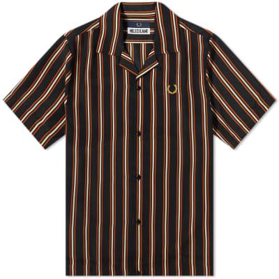 Fred Perry x Miles Kane Striped Bowling Shirt