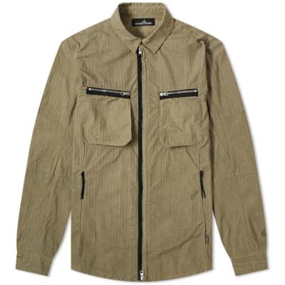 Stone Island Shadow Project Naslan Ripstop Zip Shirt Jacket