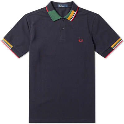 Fred Perry Abstract Collar Polo