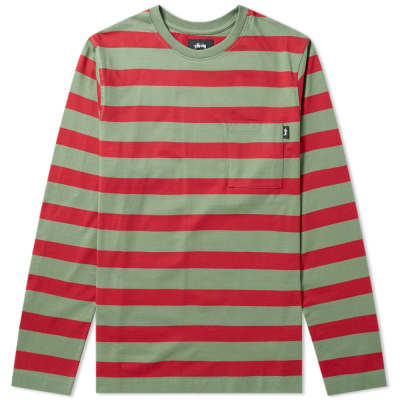 Stussy Malcolm Stripe Crew Sweat