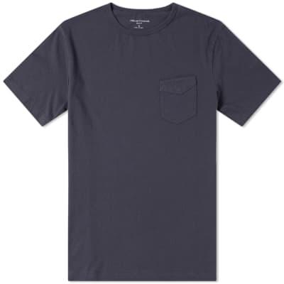 Officine Generale Garment Dyed Pocket Tee