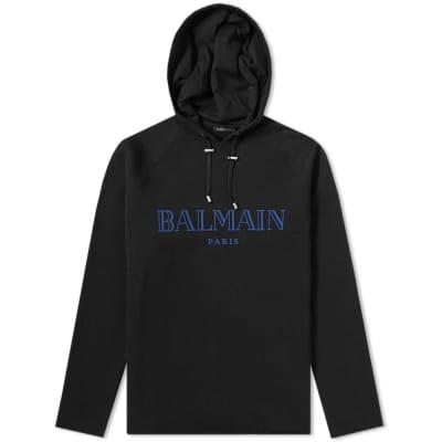 Balmain Lightweight Paris Logo Hoody