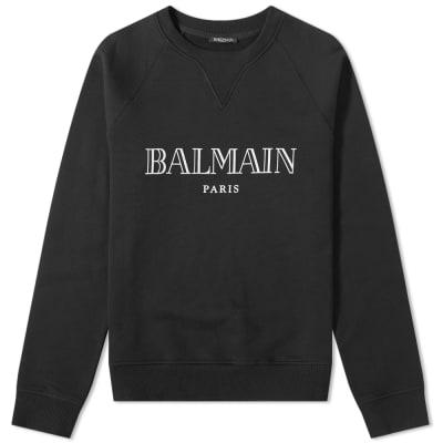 Balmain Text Logo Crew Sweat