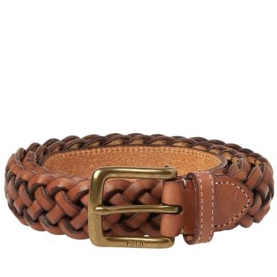 Polo Ralph Lauren Leather Woven Belt