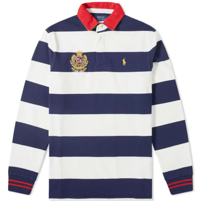 Polo Ralph Lauren Long Sleeve Embroidered Crest Rugby Shirt