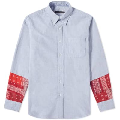 SOPHNET. Bandana Panel Shirt