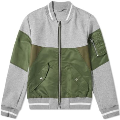 SOPHNET. Fabric Mix Bomber Jacket