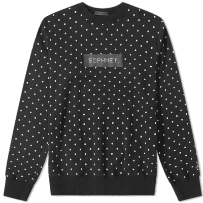 SOPHNET. Polka Dot Crew Sweat
