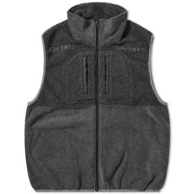 Cav Empt Fleece Zip Vest