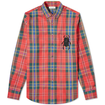 Alexander McQueen Tartan Embroidered Bug Pocket Shirt
