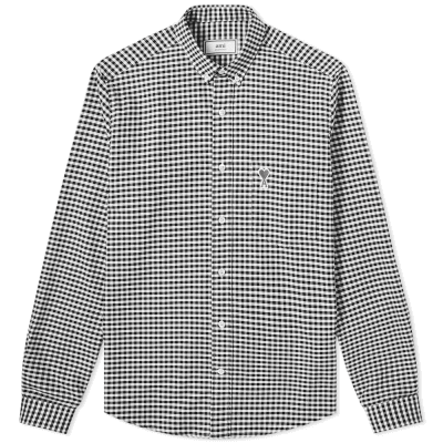 AMI Button Down Heart Logo Shirt