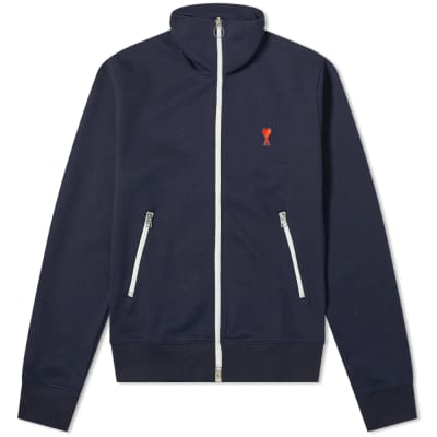 AMI Heart Logo Zip Track Jacket