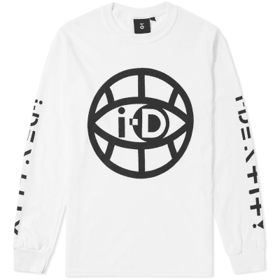 i-D Long Sleeve Global Eye Logo Tee