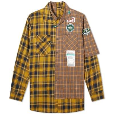 Maison MIHARA YASUHIRO Layered Check Shirt